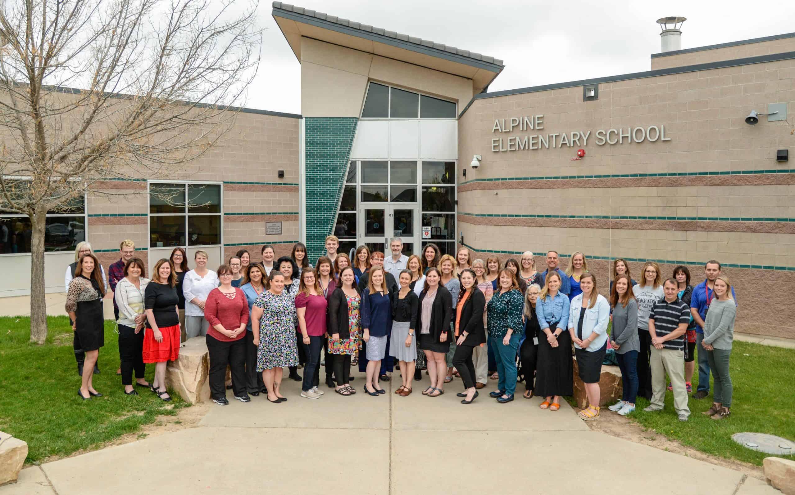 Alpine Elementary Staff Photo